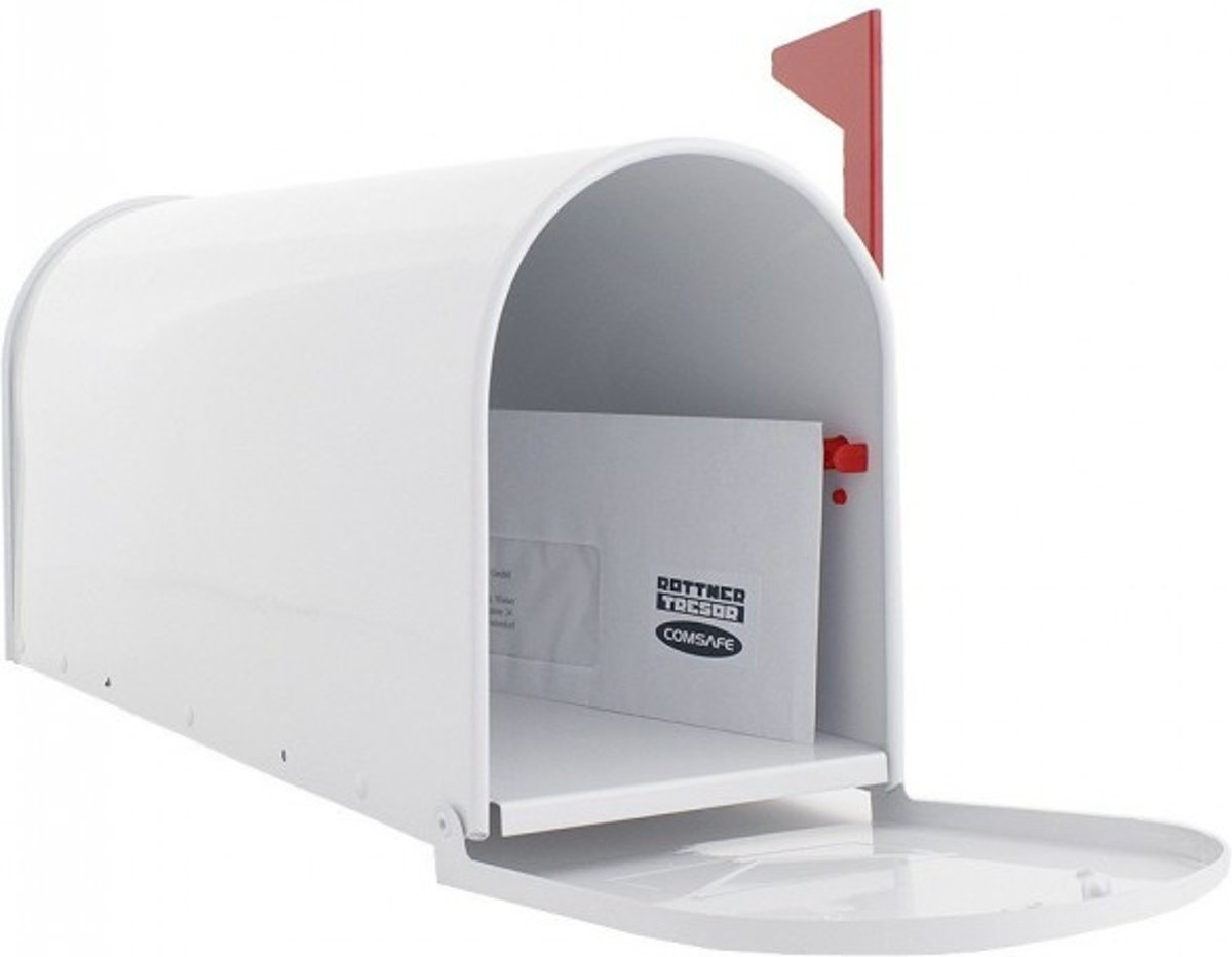 Amerikaanse brievenbus - US-MAILBOX - Wit