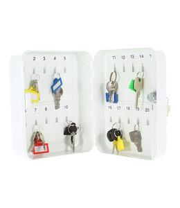 Rottner Tresor TS20 sleutelkastje voor 20 sleutels - Wit