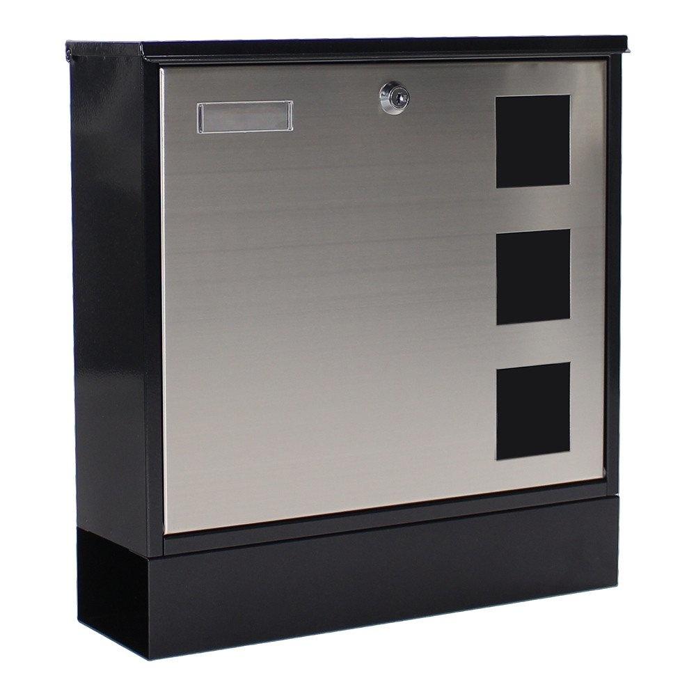 Rottner Design brievenbus - Zwart/Zilver
