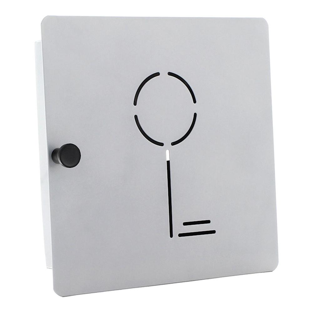 Sleutelkast Key Collect met 10 haakjes - Zilver