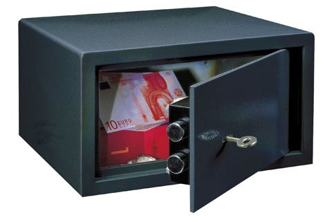 Meubelkluis - Privekluis LE 17 met sleutelslot - Antraciet