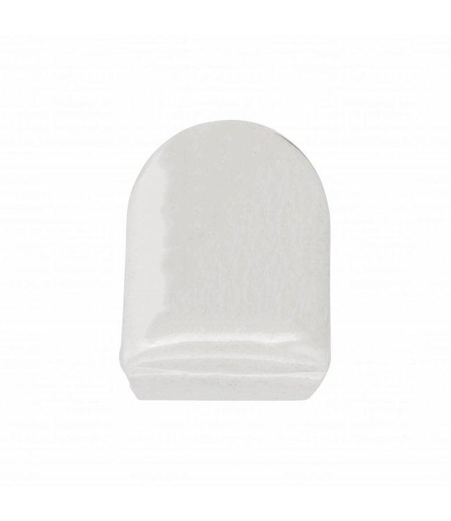 GrillzShop Zilverkleurige voortand - zilverkleurige tand - 10mm -op maat te maken