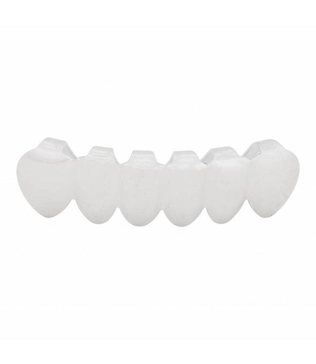 GrillzShop Grillz tanden - onderkant - Zilver - zelf op maat te maken