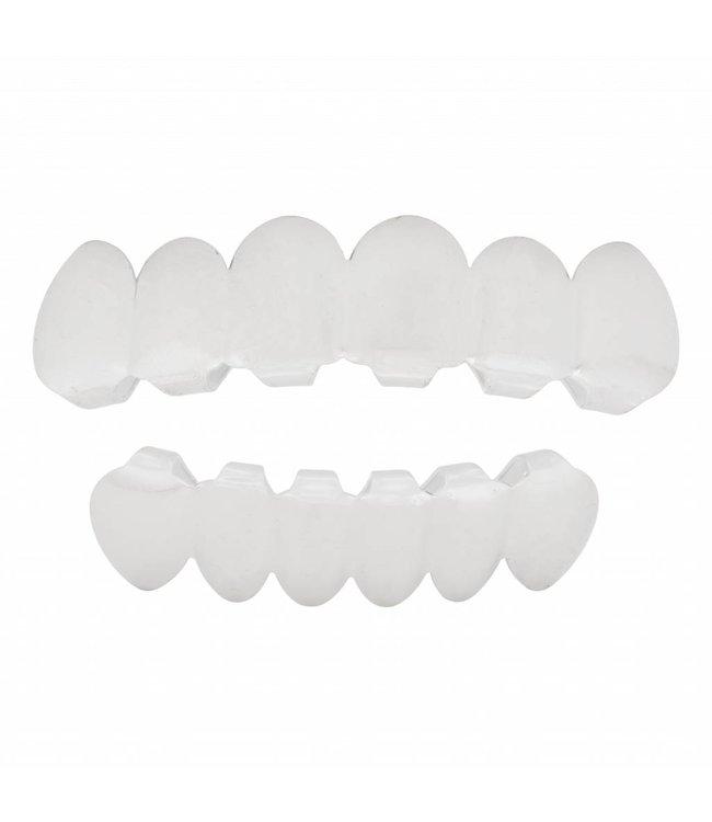 GrillzShop Grillz tanden - bovenkant en onderkant - Zilver - op maat te maken