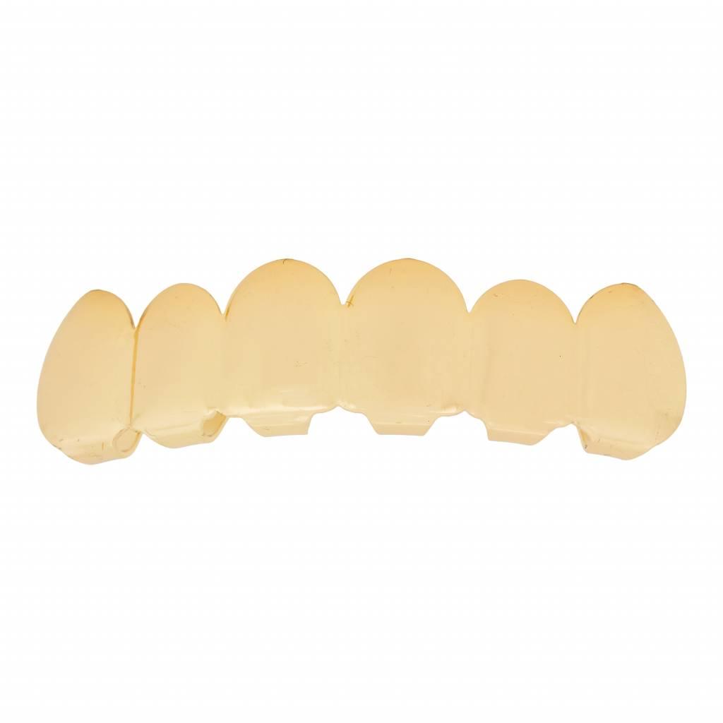 Grillz tanden – bovenkant – Goud – zelf op maat te maken
