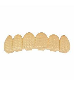 GrillzShop Grillz tanden - bovenkant- Goudkleurig  Roast - zelf op maat te maken