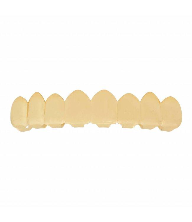 GrillzShop Grillz tanden - bovenkant- Goud - EXTRA GROOT - zelf op maat te maken