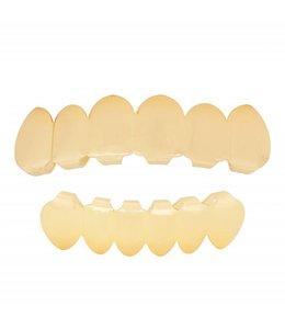 GrillzShop Grillz tanden - boven- en onderkant - Goudkleurig - op maat te maken