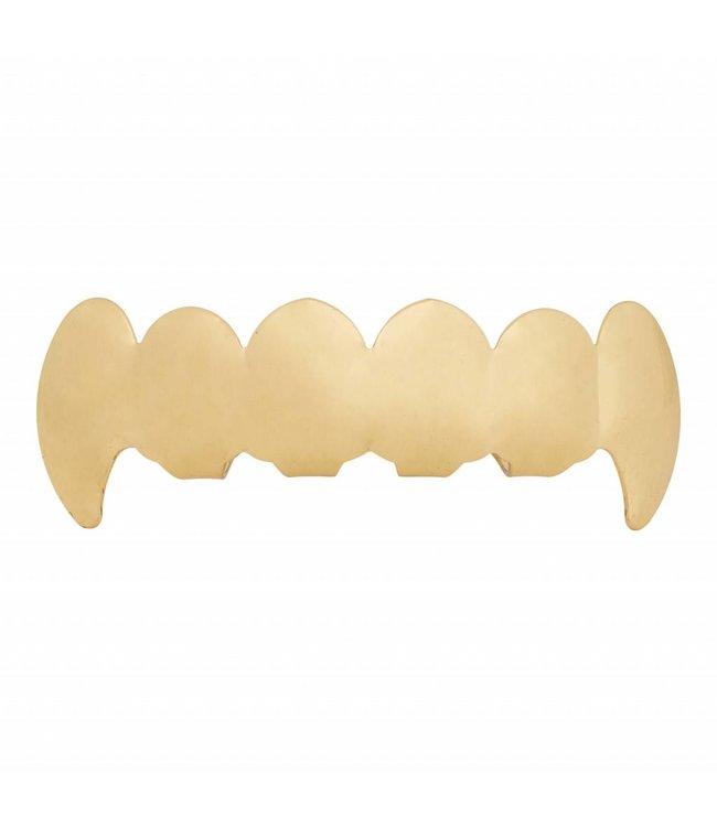 GrillzShop Grillz tanden - onderkant - Goud VAMPIER - zelf op maat te maken