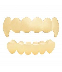 GrillzShop Grillz tanden - bovenkant en onderkant - Goudkleurig Vampier