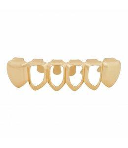 GrillzShop Grillz tanden - onderkant - Goudkleurig Mid Hollow  zelf op maat maken