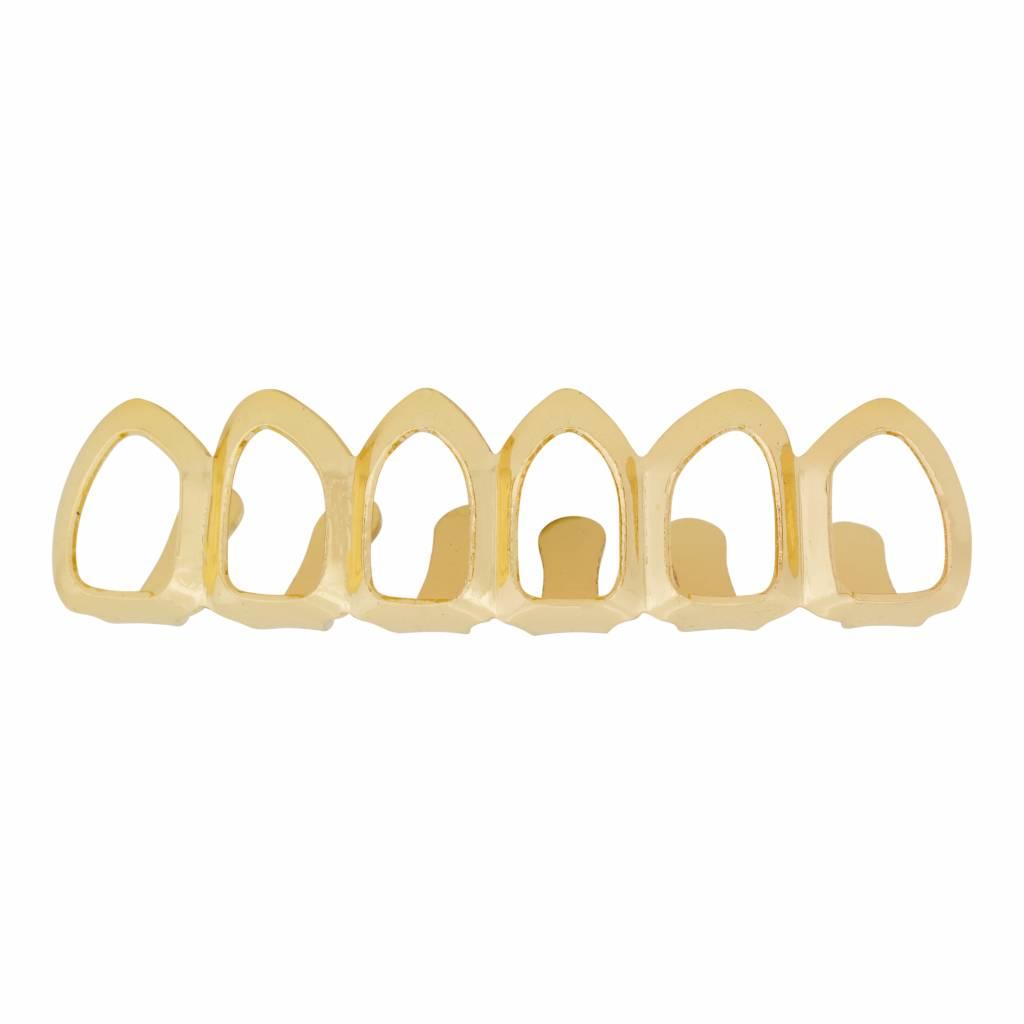 Grillz tanden – bovenkant – Goud Hollow – zelf op maat te maken