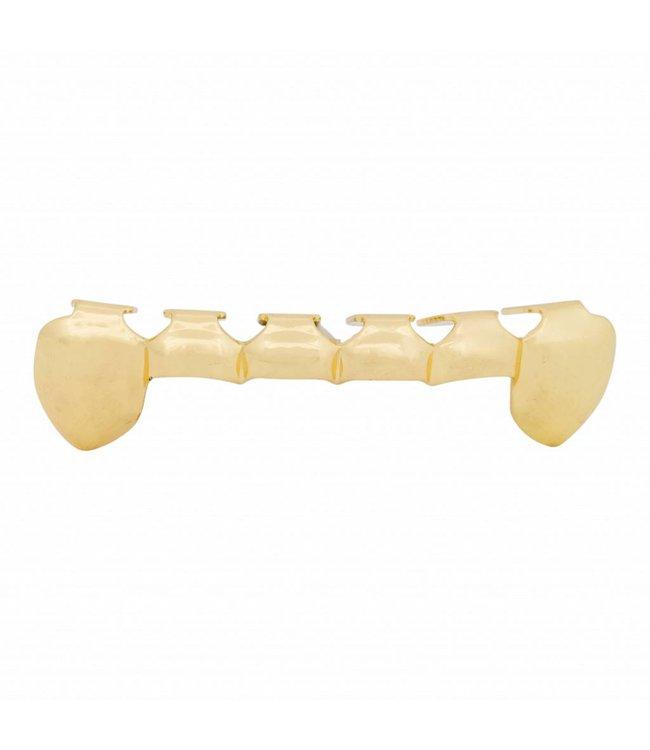 GrillzShop Grillz tanden - onderkant - Goud OPEN - zelf op maat te maken