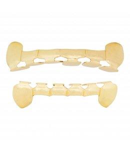 GrillzShop Grillz tanden Goud - bovenkant en onderkant - Open - op maat te maken