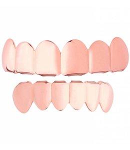 GrillzShop GrillzShop Grillz tanden - bovenkant en onderkant - Roze Goud - op maat te maken