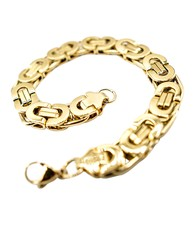 GrillzShop Koningsarmband  / Byzantium bracelet - 21cm - Verguld - Goud