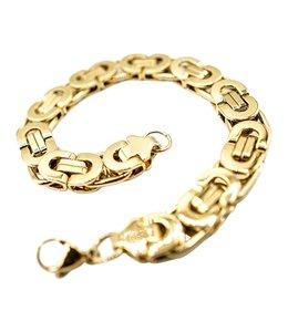 GrillzShop Koningsarmband  / Byzantium schakelarmband  - 21cm - Verguld - Goud