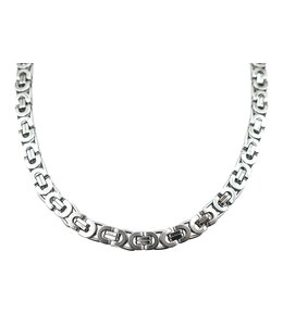 GrillzShop Iced out Byzantium chain / ketting - 76cm - Zilver