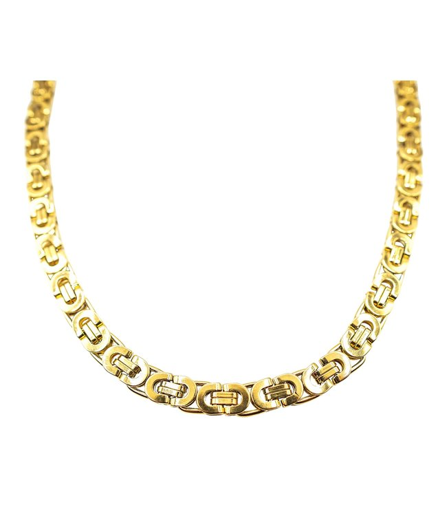 GrillzShop Iced out Byzantium  chain / ketting - 76cm - Goud