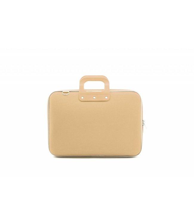 Bombata Nylon Laptoptas 15,6 Inch Grijs/Bruin