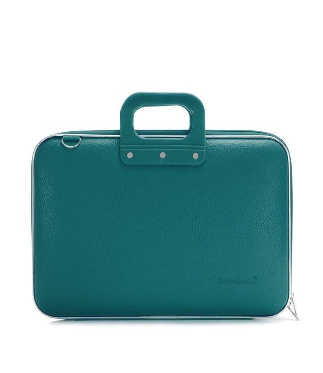 Bombata Classic Laptoptas 15,6 inch - Groen/Blauw