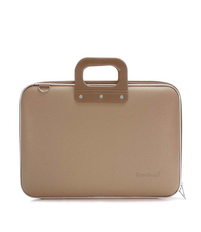 Bombata Classic Laptoptas 15,6 inch Grijs/Bruin