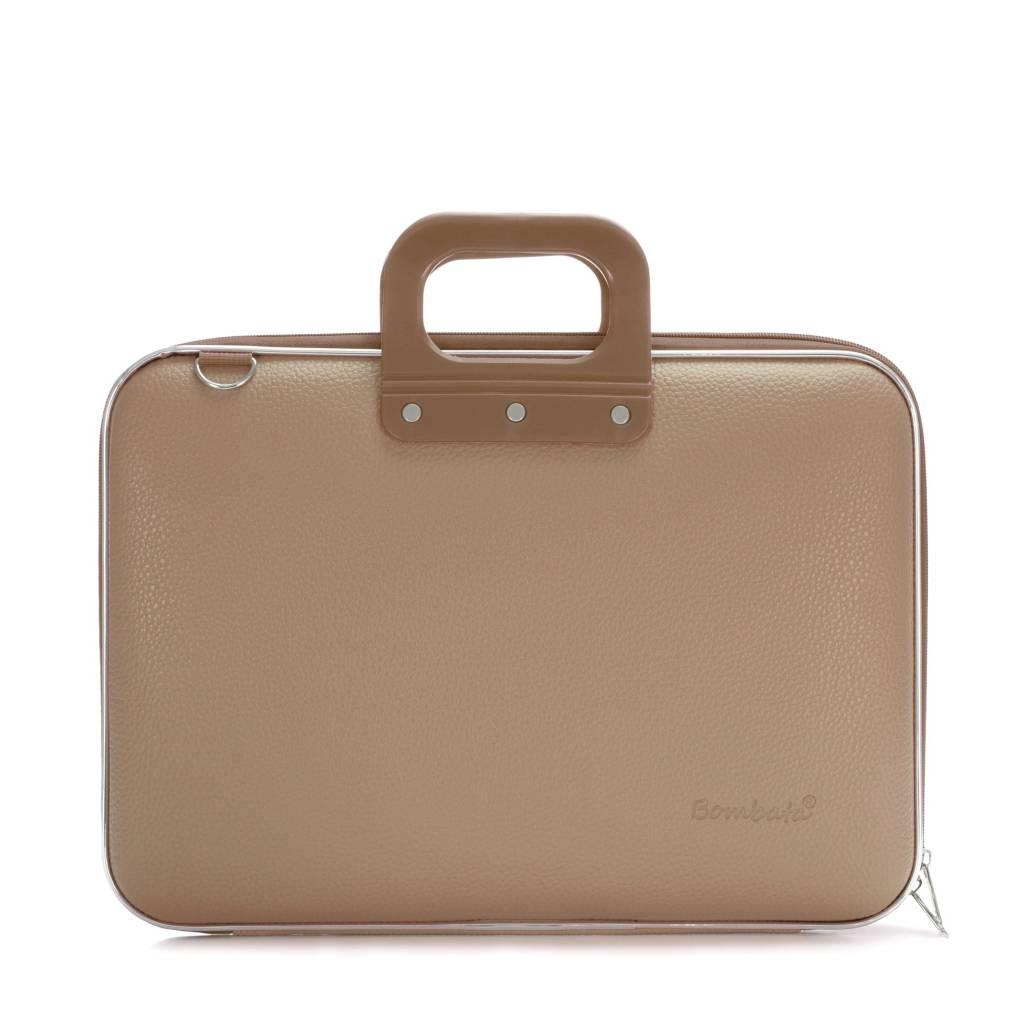 Classic Laptoptas 15,6 inch – Grijs/Bruin