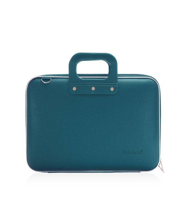 Bombata Medio Laptoptas 13 inch - Blauw/Groen