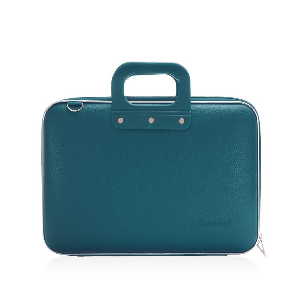 Medio Laptoptas 13 inch Blauw/Groen