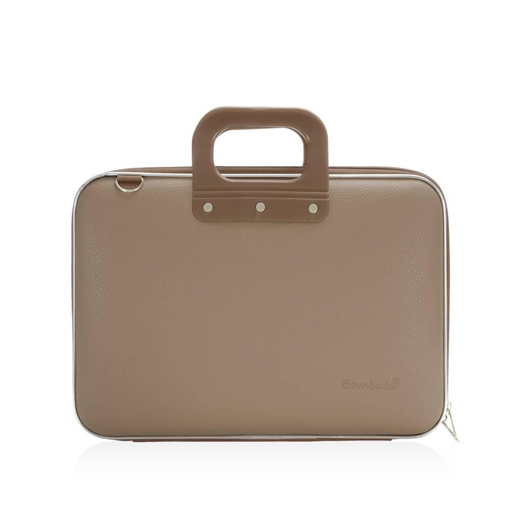 Medio Laptoptas 13 inch Grijs/Bruin
