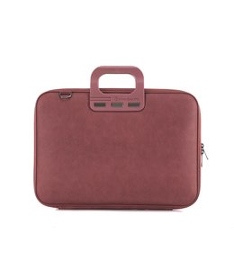 Bombata Denim Laptoptas 15,6 inch - Burgundy