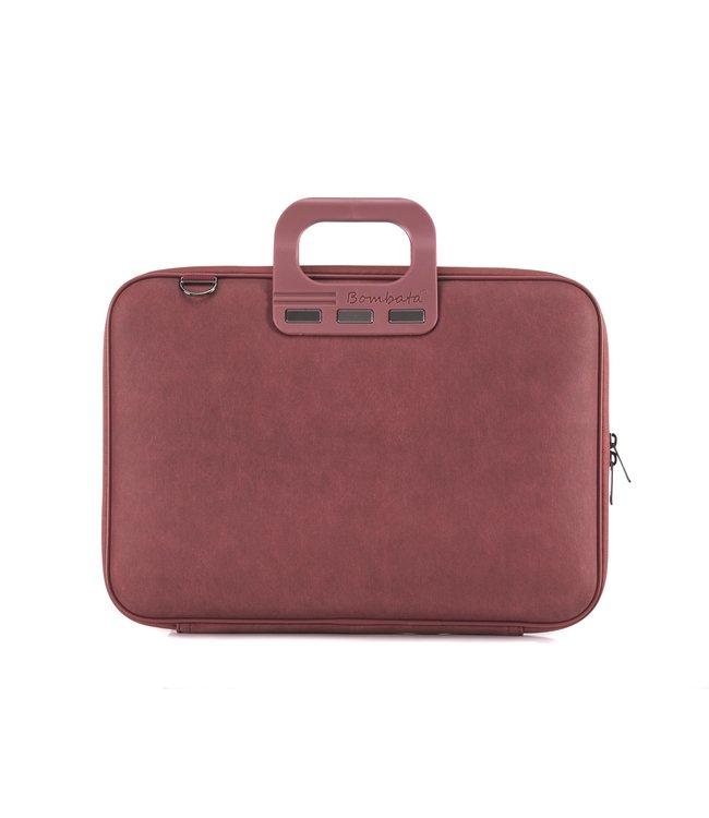 Bombata Denim Laptoptas 15,6 inch - Burgundy