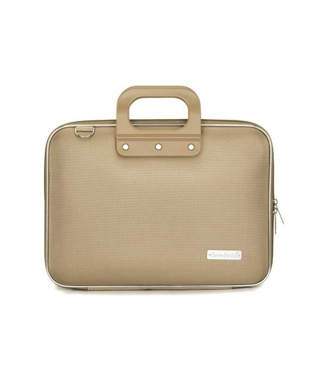 Bombata Nylon Laptoptas 13 inch - Grijs/Bruin
