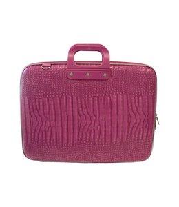 Bombata Cocco Laptoptas 17,3 inch - Dark Pink Mat ***Uitlopende kleur***