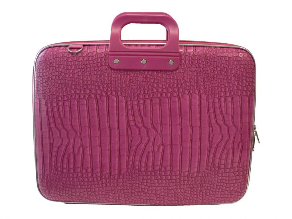 b2b406452dc Bombata Cocco Laptoptas 17,3 Inch Dark Pink Mat - Bombata.nl