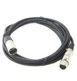 XLR Kabel Set - 7 male/female Microfoon kabels
