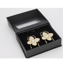 CLIP n GO Butterfly Diamon Gold