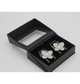 CLIP n GO Butterfly Diamond Silver
