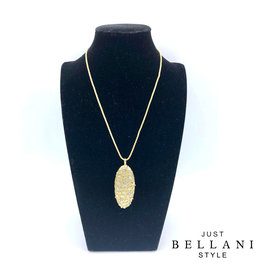 Just Bellani Style Necklace White & Gold