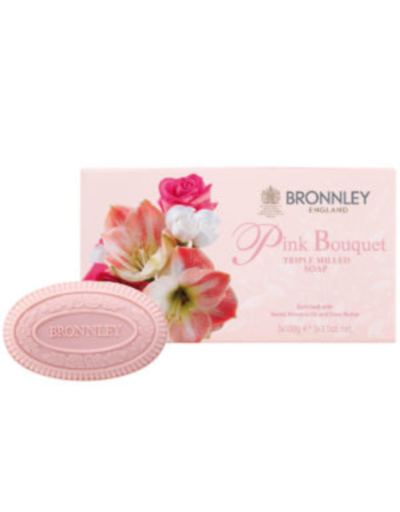 Bronnley Pink Bouquet – Triple Milled Soap Collection