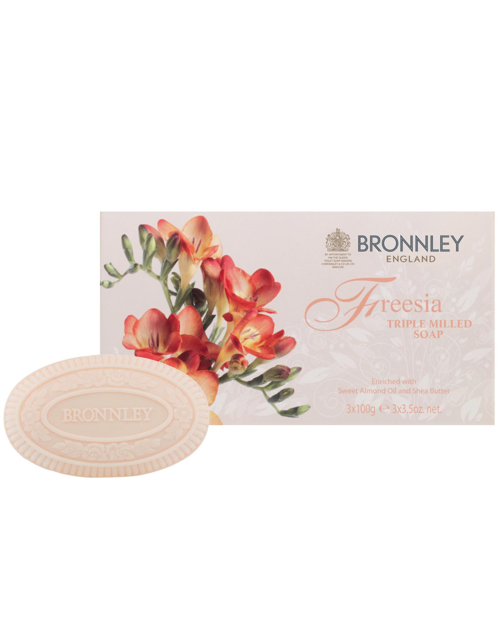 Bronnley Freesia Triple Milled Fine Soap 3x100g