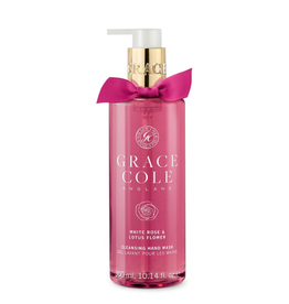 Grace Cole Handzeep White Rose & Lotus Flower