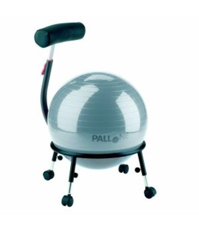 Palosit Balstoel 121B (Pallosit) (zitbal) Zilver grijs (in hoogte verstelbaar) ***SHOWROOM MODEL***