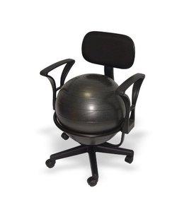ErgonomieWinkel.nl Bureau balstoel voor volwassenen - zitbal - met lendensteunen - SHOWROOMMODEL