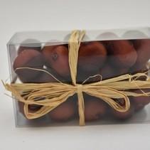 Chestnut brown x30 pcs in box w/raffia