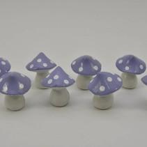 Doos á 8 paddestoel lila klein