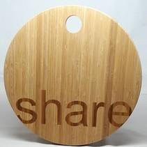 Presenteerplank Share 40x40x1,6cm bamboo, lichtbruin