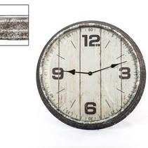 Klok zink (ook voor buiten) 39x8,5cm