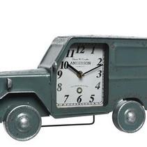 Swingtag a 1 iron clock jeep blue 9x35x18.5cm