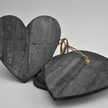 Houten hart 25cm 5pc natural